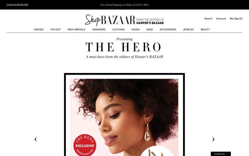 ShopBazaar home page screenshot on April 5, 2019