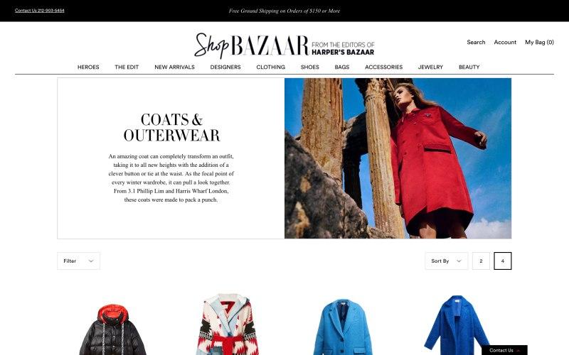 ShopBazaar catalog page screenshot on April 5, 2019