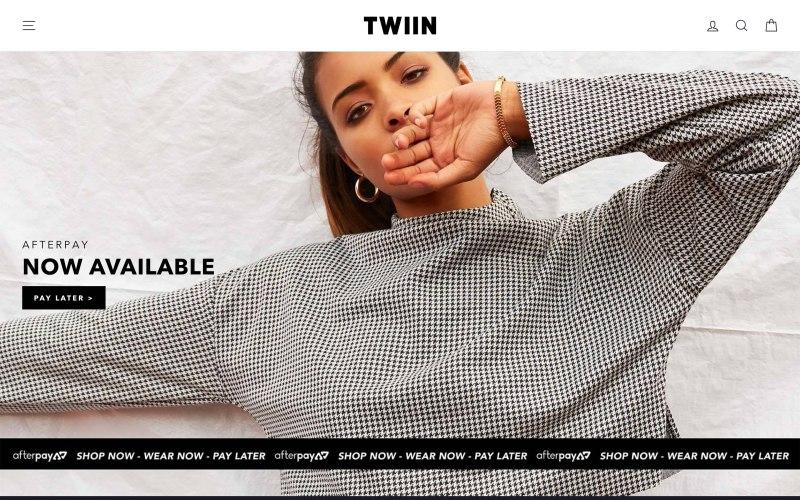 Twiin home page screenshot on April 27, 2019