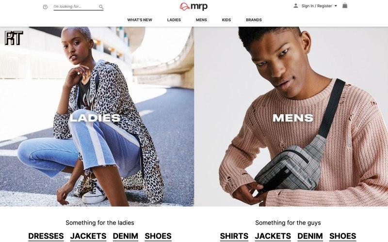 mrp home page screenshot on April 23, 2019