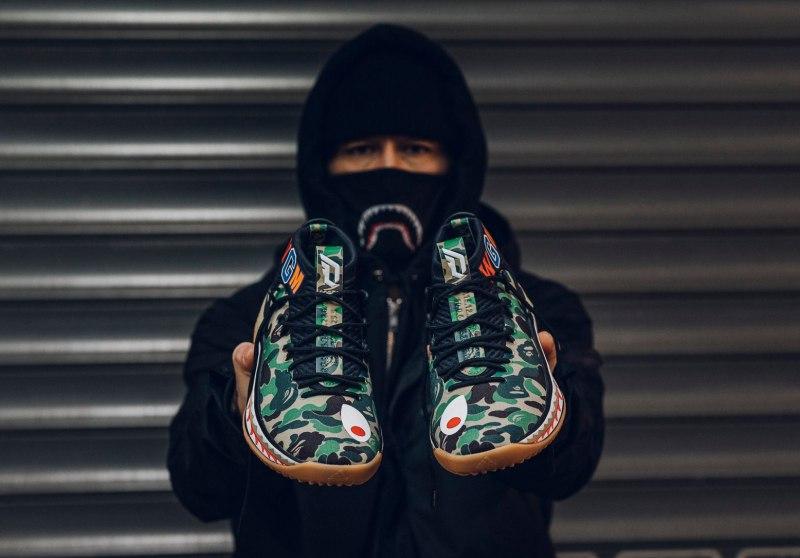 Bape x Adidas Dame 4 'Green Camo' 5
