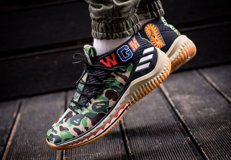 low priced 926e4 eba39 Bape x Adidas Dame 4  Green Camo  Review