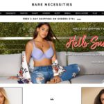 Bare Necessities home page screenshot on May 7, 2019