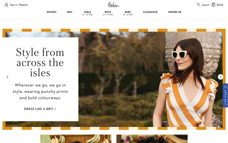 Boden home page screenshot on May 9, 2019