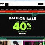 Fashion Nova home page screen shot on May 13, 2019