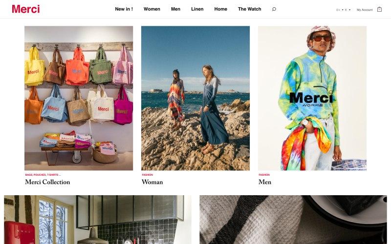 Merci product page screenshot on May 8, 2019