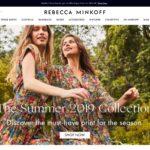 Rebecca Minkoff home page screenshot on May 3, 2019