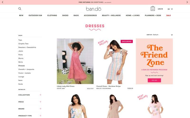 ban.do catalog page screenshot on May 3, 2019